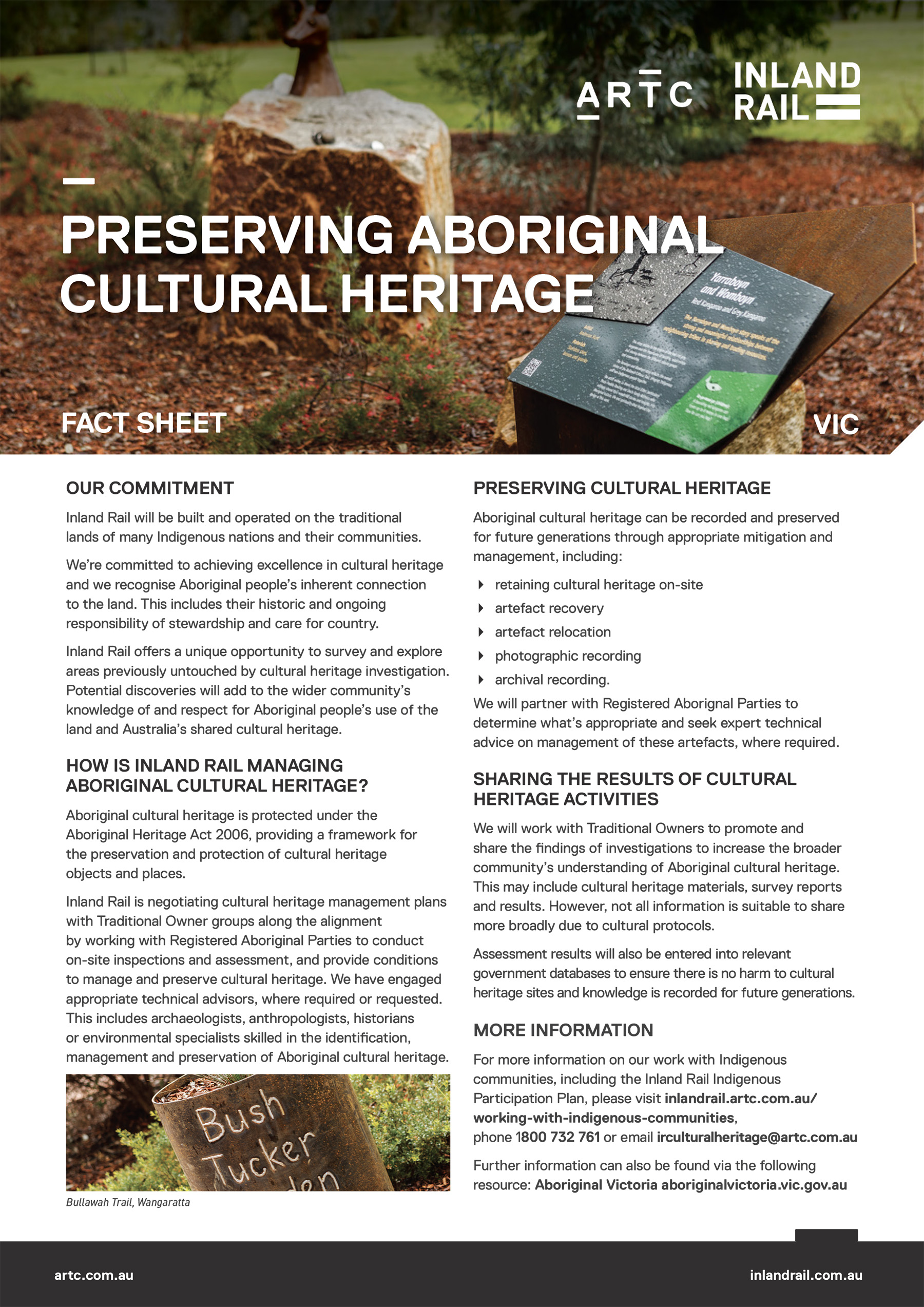 Preserving Aboriginal Cultural Heritage - Fact Sheet