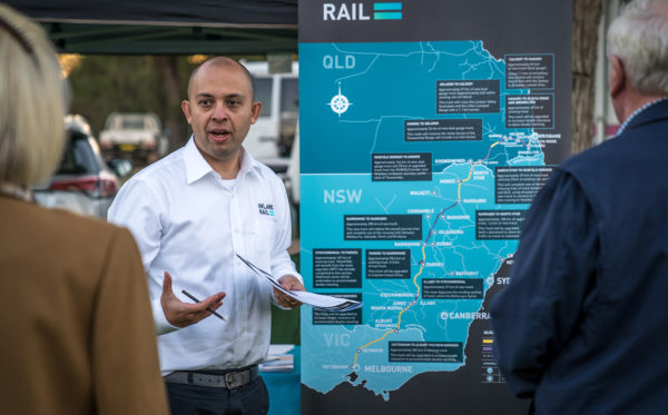 Patricio Munoz, Stakeholder Engagement Manager (North), at the 2019 Coonamble Show, New South Wales.