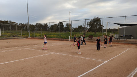 Friday Jr. tennis session at the Wirrinya Progress & Sports Association
