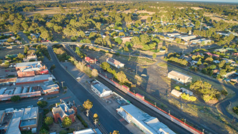 Aerial view of Euroa township