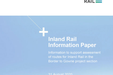Thumbnail image of the cover page of the Information to support assessment of routes for Inland Rail in the Border to Gowrie project section document
