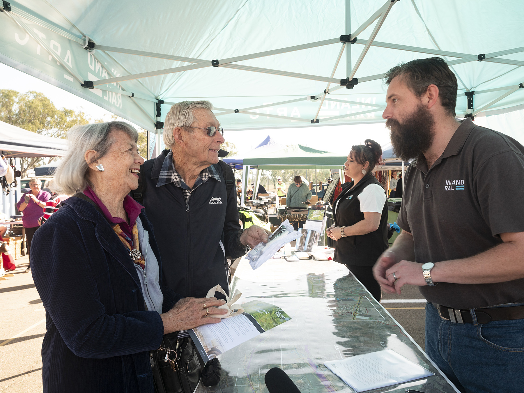 ARTC community drop-in info session at the Laidley RSL market day.