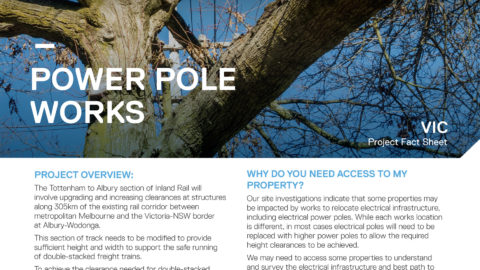 ARTC Inland Rail power pole works project fact sheet
