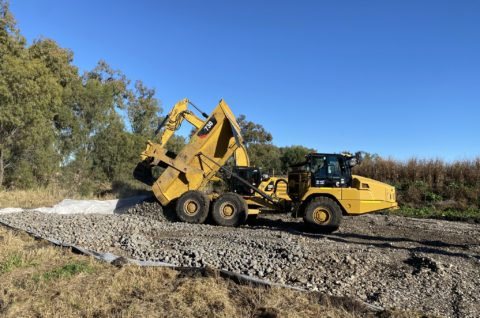 Construction happening on the Narrabri to North Star rail line